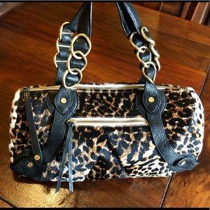 Elaine Turner calf hair & leather satchel